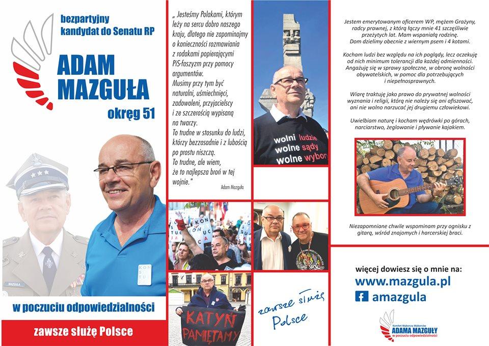 Adam Mazguła – bezpartyjny kandydat do Senatu RP